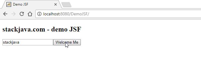 Series JSF – Phần 4: Tạo ví dụ, trang web hello world với JSF