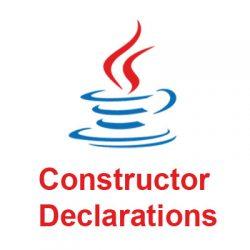 Khai báo hàm khởi tạo trong Java - Constructor Declarations