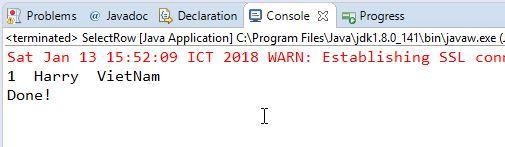 Hướng dẫn Java JDBC, Ví dụ với PreparedStatement trong JDBC