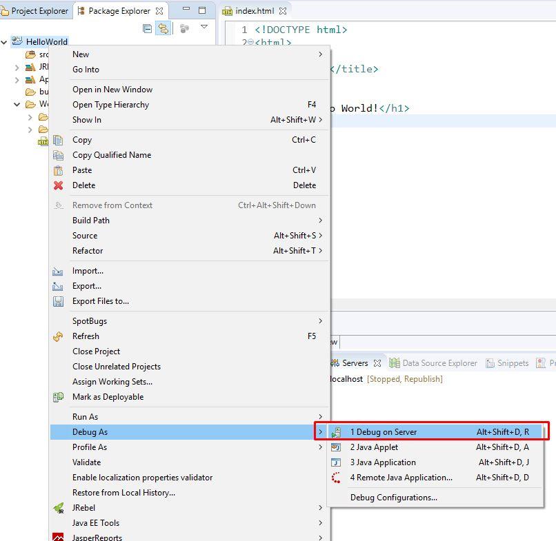 Ví dụ chương trình hello world bằng JSP - Servlet