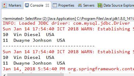 2.3 Thực hiện SELECT dữ liệu thông qua JdbcTemplate