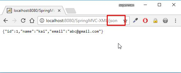 spring mvc trả về dữ liệu định dạng json