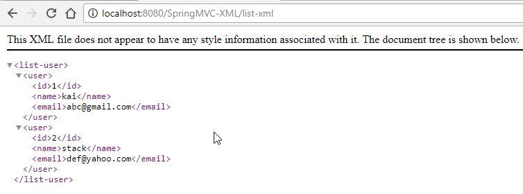 Spring MVC – Phần 13: Trả về dữ liệu định dạng XML trong Spring MVC