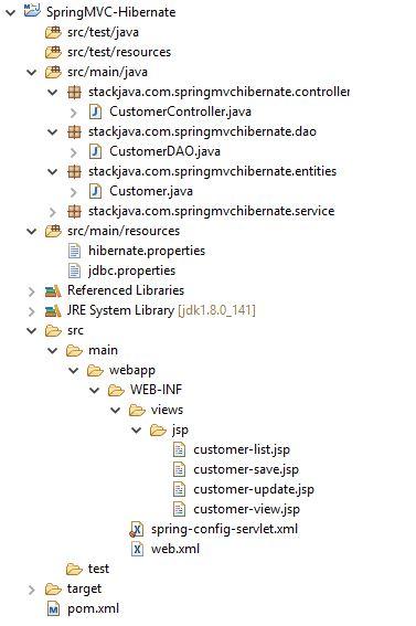 Code ví dụ Spring MVC + Hibernate Session + Maven + MySQL + Eclipse stackjava.com