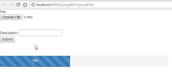 Spring MVC Upload File kết hợp Progress Bar (JQuery, Bootstrap)