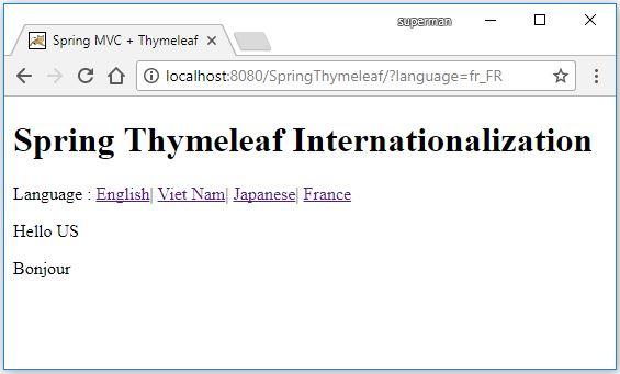 Code ví dụ đa ngôn ngữ với Thymeleaf Internationalization i18n