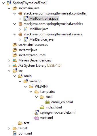 Code ví dụ gửi email - gmail với Thymeleaf + Spring