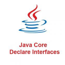 Khai báo interface trong Java, hằng số với interface