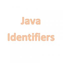 Định danh trong Java, nguyên tắc đặt tên định danh
