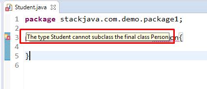 Khai báo class trong Java, Nguyên tắc khai báo class