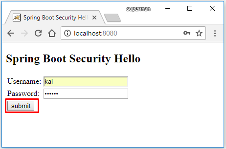 Code ví dụ Spring Boot Security Hello + Tạo Form Login