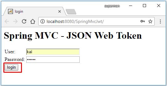 Code ví dụ Spring MVC - Spring Security JSON Web Token