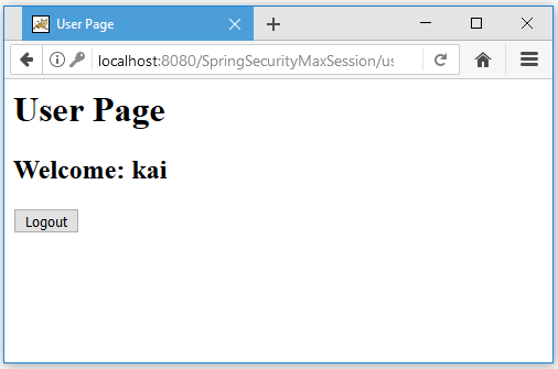Code ví dụ Spring Security Concurrent Session Control/ Max Session (Chỉ login tại một nơi)