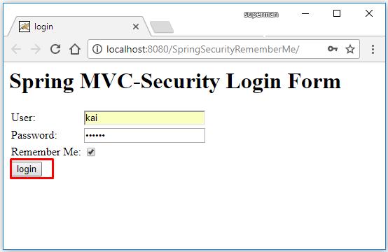 Spring security tự động đăng nhập