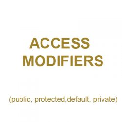 Các loại access modifier trong Java (public, protected, default, private)