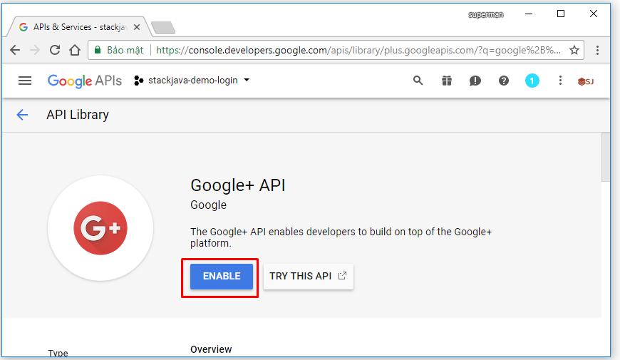 tạo ứng dụng google để đăng nhập qua ứng dụng web