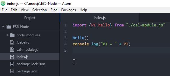 Code ví dụ Node.js với ES6 - Sử dụng babel.js