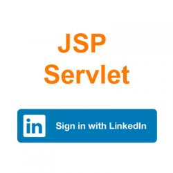 jsp servlet login with linkedin
