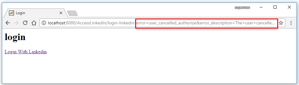 Code ví dụ JSP Servlet đăng nhập (login) bằng Linkedin
