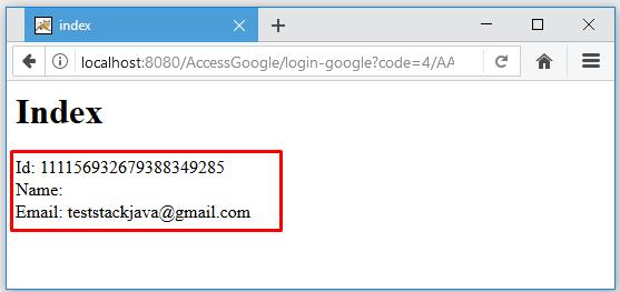 Code ví dụ JSP Servlet login bằng Google (Gmail/Google+)