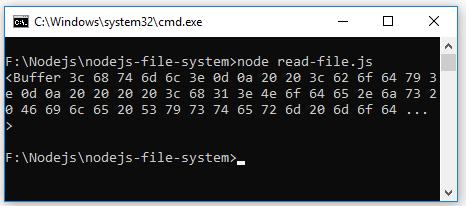 ví dụ node.js đọc file