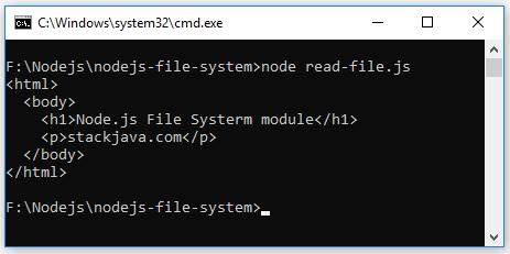 Code ví dụ Node.js Đọc/Ghi/Sửa/Xóa file