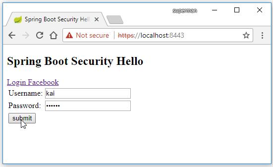 Code ví dụ Spring Boot Security login bằng Facebook