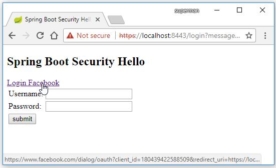 code ví dụ spring boot security login facebook