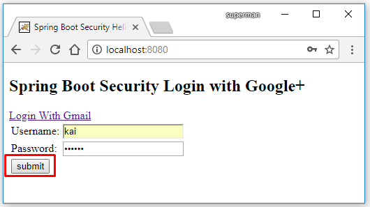 Code ví dụ Spring Boot Security login bằng Google (Gmail)