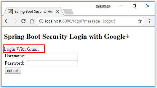 Code ví dụ Spring Boot Security login bằng Google account