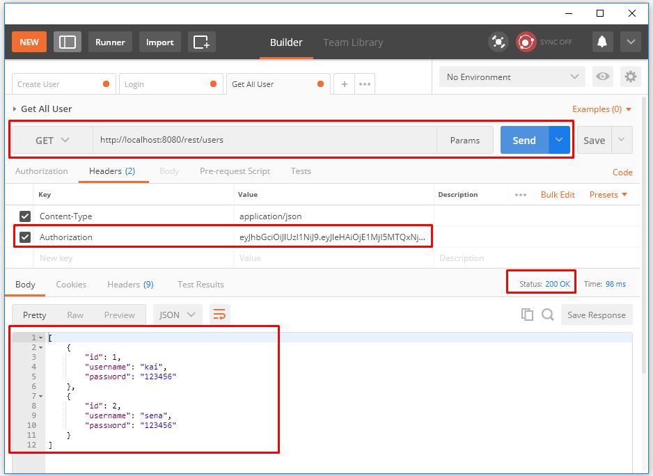 Code ví dụ Spring Boot JSON Web Token (JWT)