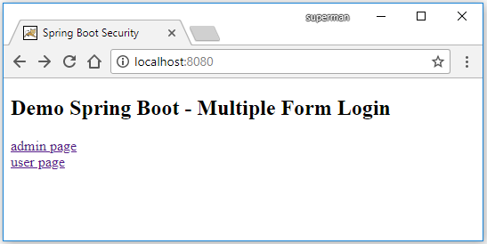 Code ví dụ Spring Boot Multiple Login Page (Form Login)