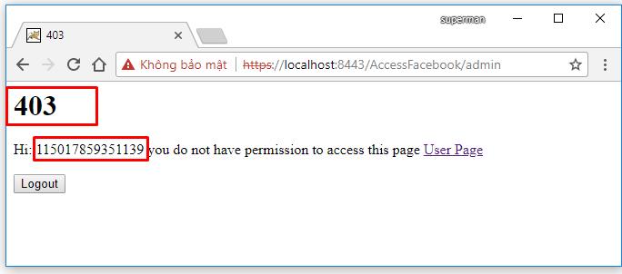 Code ví dụ Spring MVC Security, login bằng Facebook