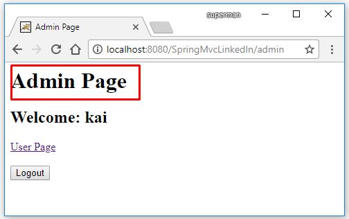 Code ví dụ Spring MVC Security đăng nhập bằng LinkedIn