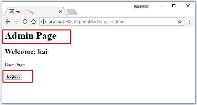 Code ví dụ Spring MVC login bằng google/gmail