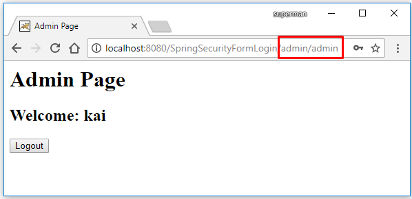 Spring mvc multiple login page