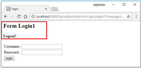 spring security multiple login page