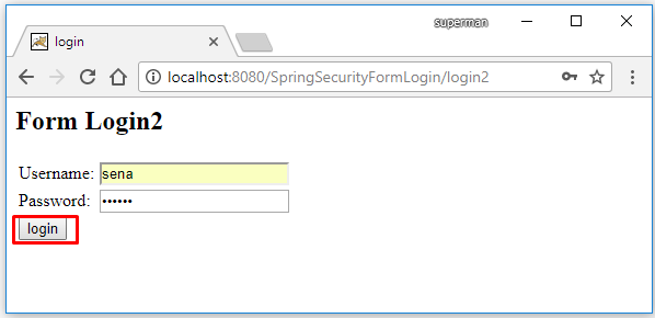 spring security two form login