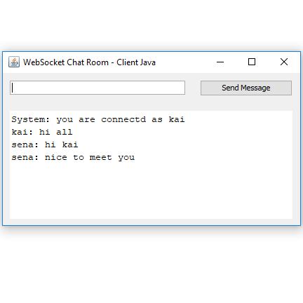 Code ví dụ ứng dụng Chat với WebSocket + Java Desktop - STACKJAVA