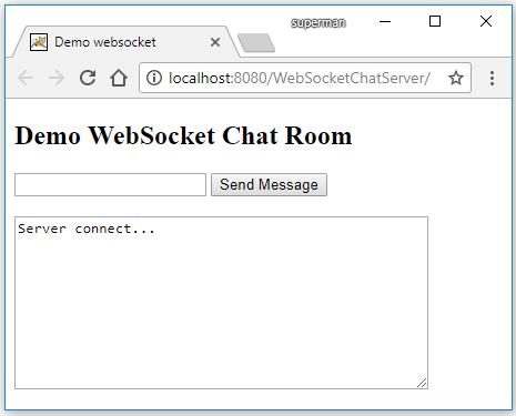 Code ví dụ ứng dụng Chat với WebSocket + Java Desktop