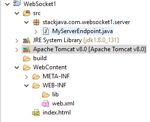 Code ví dụ Java WebSocket: Client HTML (Browser) - Server Java