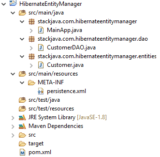 Code ví dụ truy vấn Hibernate với EntityManger, EntityManagerFactory