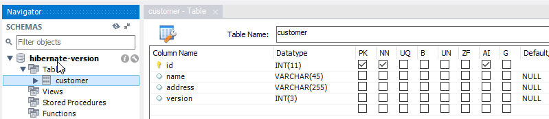 Tạo database trên MySQL