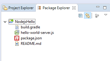 nodejs hello eclipse