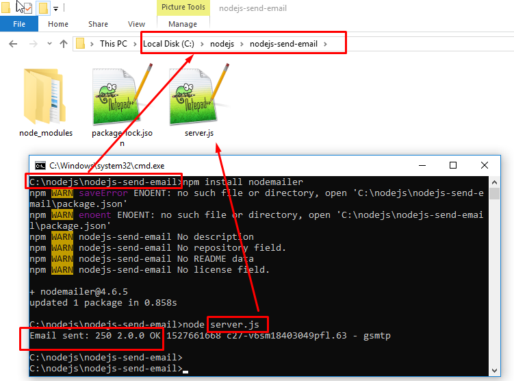 Code ví dụ NodeJs, Gửi email/gmail bằng nodejs stackjava.com