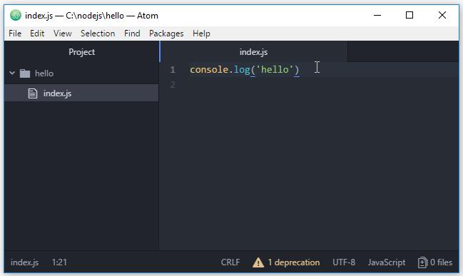 Atom là gì? Cài đặt Atom để code Node.js