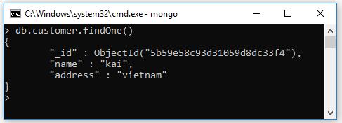 Nếu bạn chỉ muốn lấy một document / bản ghi duy nhất thì thay method find() bằng method findOne()
