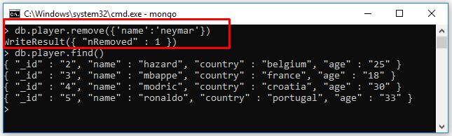 Xóa document, row trong MongoDB (bằng dòng lệnh, Robo3T)