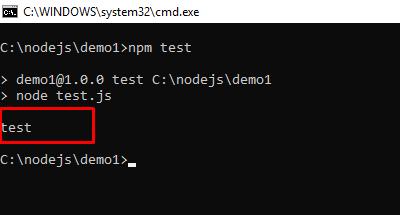 chạy node.js bằng npm