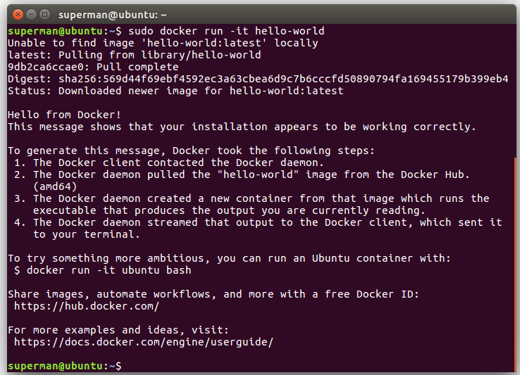 docker helloworld
